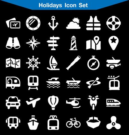 mini bar: Holiday icon set