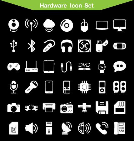hardware: Hardware icon set Illustration