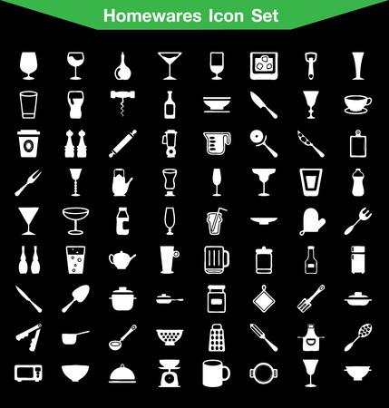 housewares: Housewares icon set