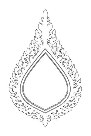 Line Thai elegant art frame,vector illustration