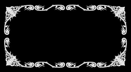 Black Thai elegant art frame,vector illustration Ilustração