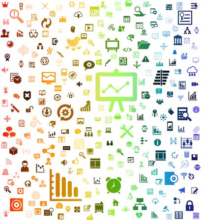 Business icon background Ilustração