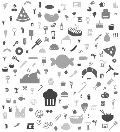 Food and Drink icon background