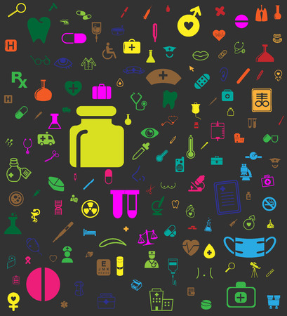 Medical icon Background Ilustração