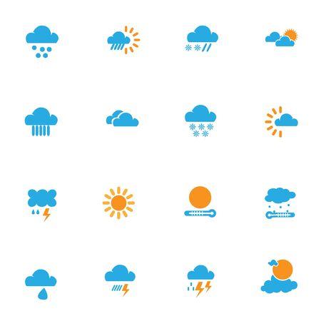 weather icon set for design work, vector illustration