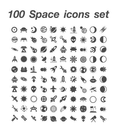 100 Space icon set