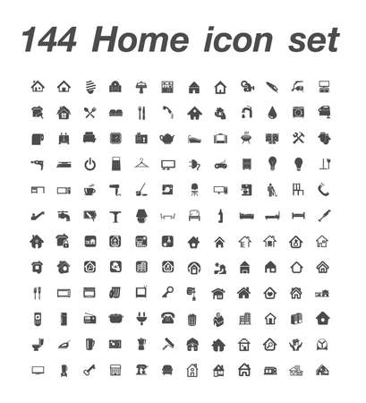 144 Home icon set