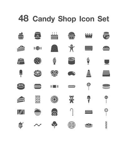 48 Candy Shop icon set