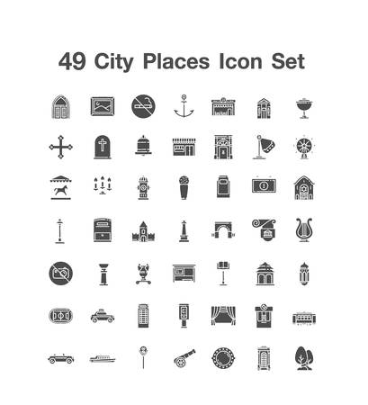 49 City Places icon set