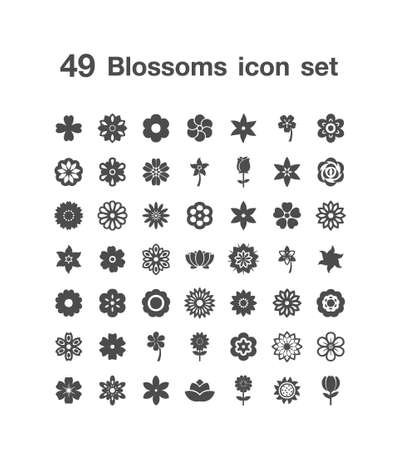 49 Blossoms icon set