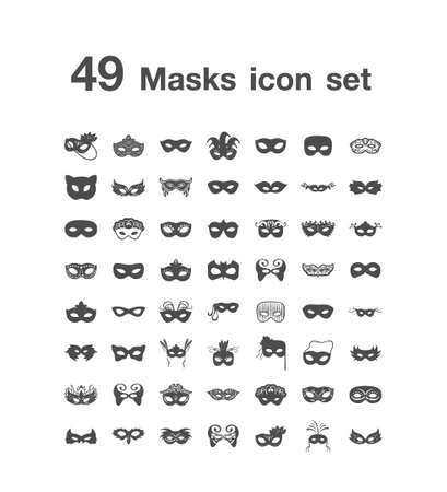 49 Masks icon set