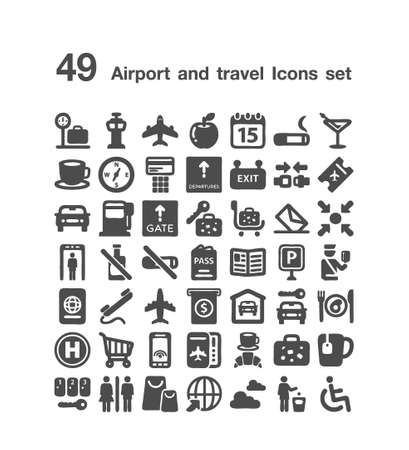 49 Airport and travel icon  set