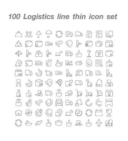 100 Logistics icon  set