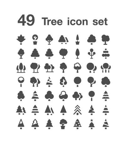 49 Tree icon  set