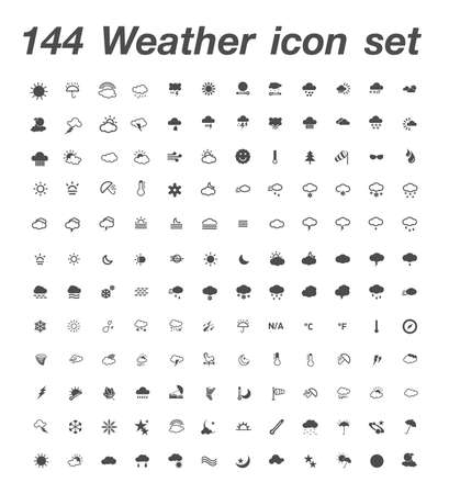 144 Weather icon  set