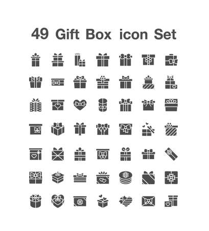 49 Gift Box icon  set