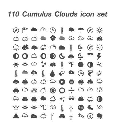 100 Cumulus Clouds icon  set