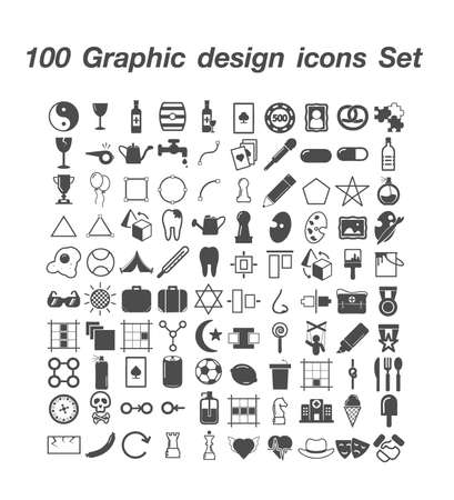 100 Graphic Design icon  set