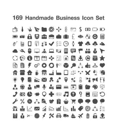 169 Handmade Business icon set
