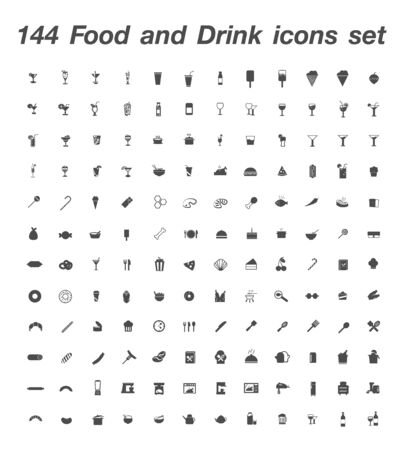 144 Food and Drink icon set
