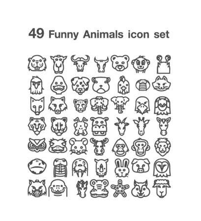 49 Funny Animals icon set