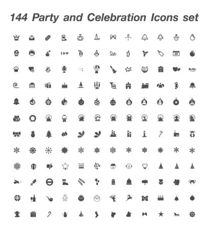144 Party and Celebration icon set