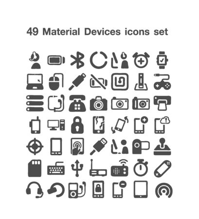 49 Material Devices icon set