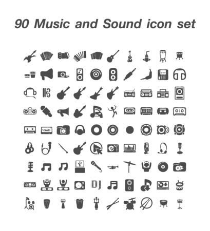 90 Music and Sound icon set