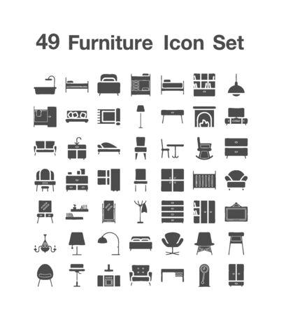 49 Furniture icon set