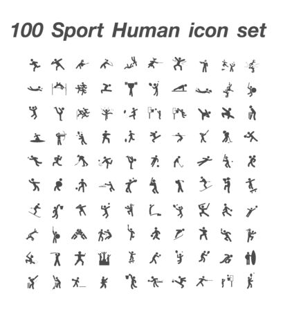 100 Sport Human icon set