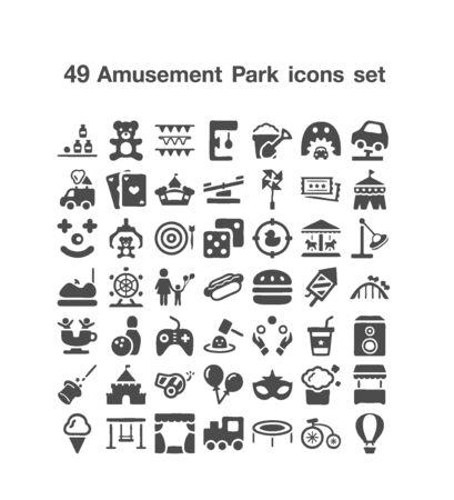 64 Amuaement Park icon set