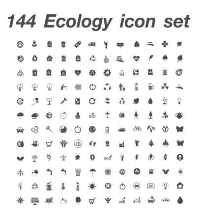 144 Ecology icon set 일러스트