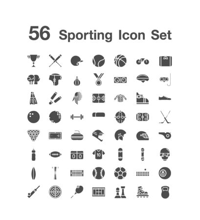 56 Sporting icon set