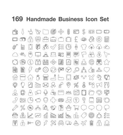 100 Handmade Business icon set