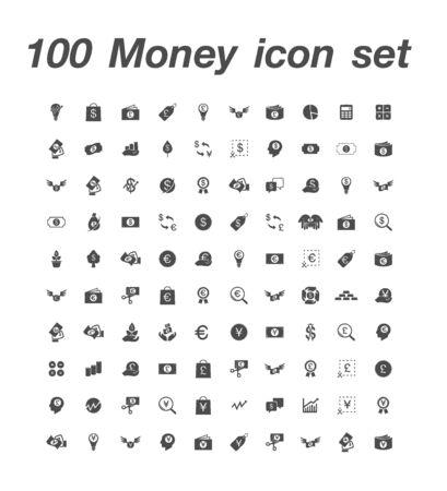 100 Money icon set