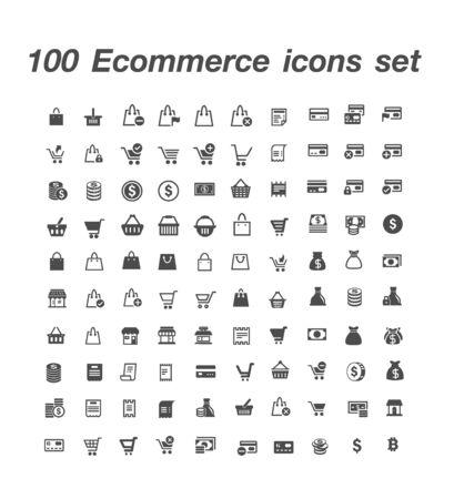 100 Ecommerce icon set