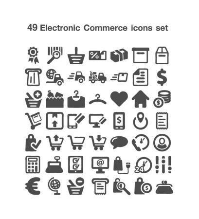 49 Electronic icon set