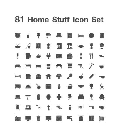 81 Home Stuff icon set