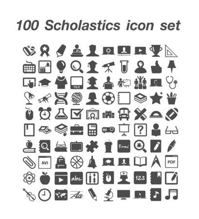100 Scholastcs icon set