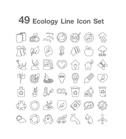 49 Ecology Line icon set