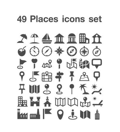 49 Places icon set