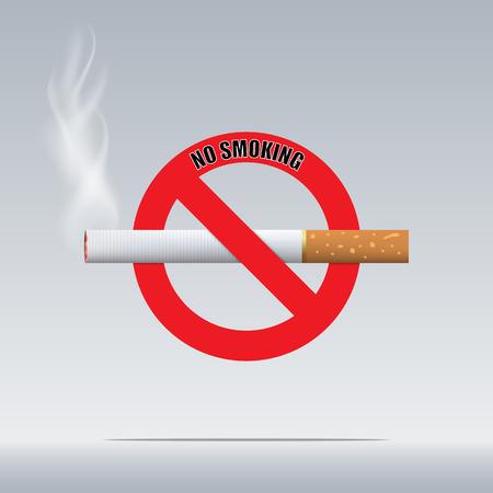 No Smoking on gray background
