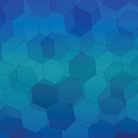 gauze: Blue gradient Polygonal style vector pattern for background.
