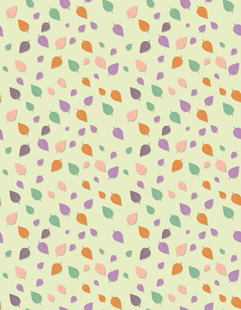Seamless leave template texture with pastel color, Seamless stylized leave pattern.