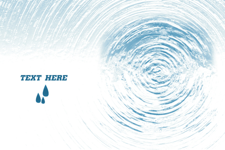 Blue circle water ripple background,after water drop,water texture,white copyspace background for add some text,illustration