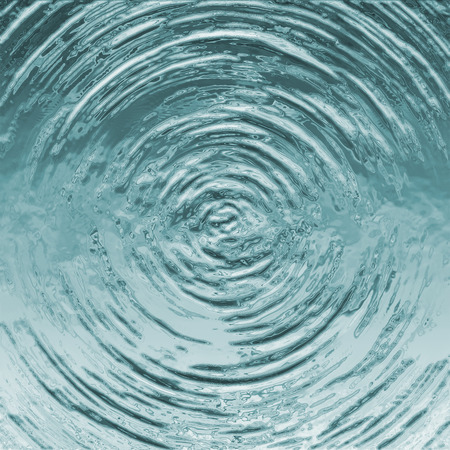 Blue circle water ripple background,after water drop,water texture,illustration Stock Photo