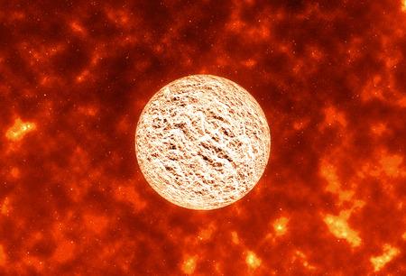 Contexte scientifique abstrait - planète explosive, éléments de cette image fournis par la NASA.