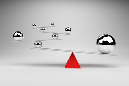 imagine a science: 3D rendering : illustration of Balancing balls on board conception,Balance Concept