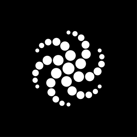 Star with circle logo black and white
