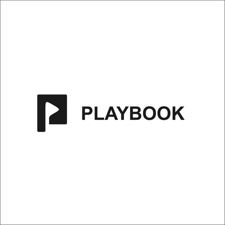 BLACK AND WHITE PLAYBOOK LOGO Illustration